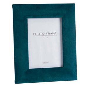 Deep Teal Velvet Photo Frame 7x5