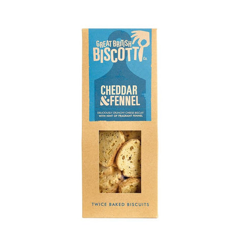Great British Biscotti Cheddar & Fennel 100g