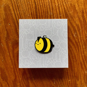 Doodles By Ben - Happy Bee Pin Badge