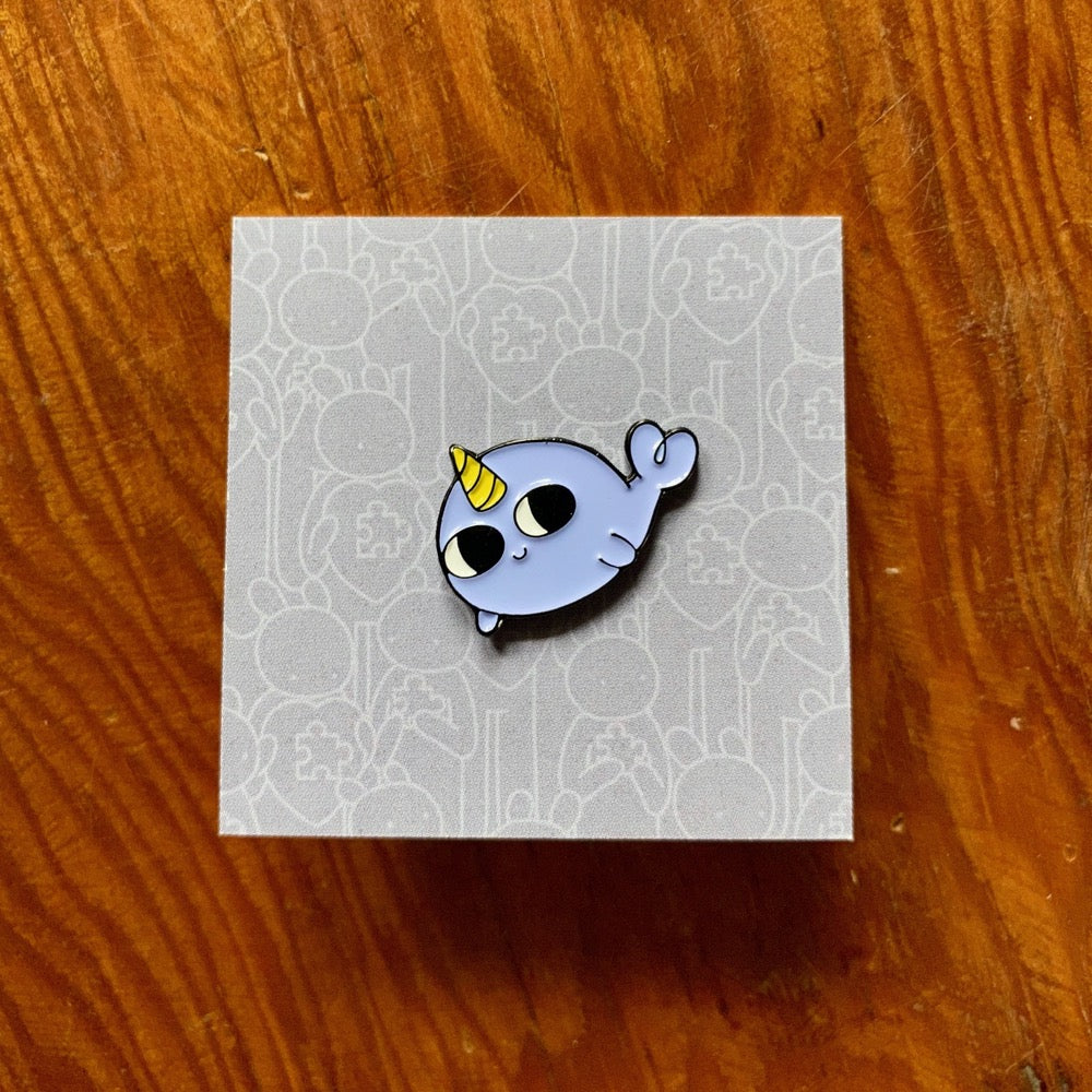 Doodles By Ben - Narwhal Pin Badge