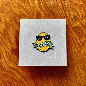 Doodles By Ben - Bad Egg Pin Badge