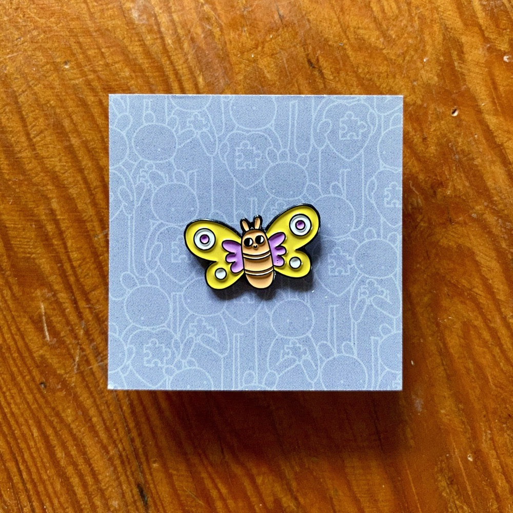 Doodles By Ben - Butterfly Pin Badge