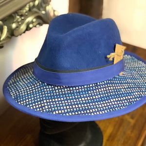 Amanda Price Royal Blue Wool Trilby