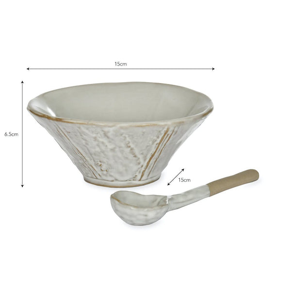 Ithaca Meze Bowl with Spoon - Ceramic