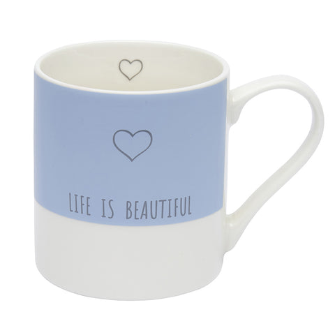 Life is beautiful mug - Blue