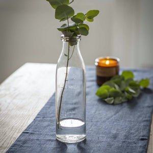 Rolled Top Bottle Vase