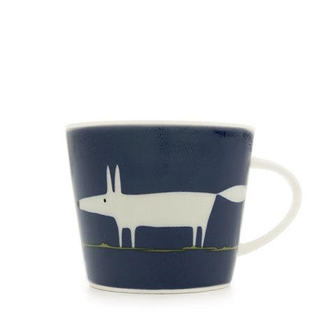 Mr Fox Mug 350ml - Indigo