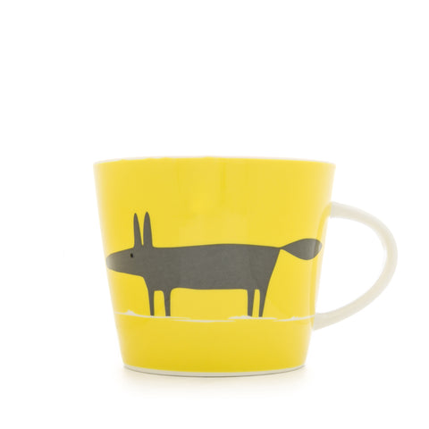 Mr Fox Mug 350ml - Yellow & Charcoal