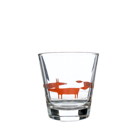 Mr Fox Glass Tumbler - Orange