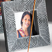 Handcarved Soapstone Square Photo Frame
