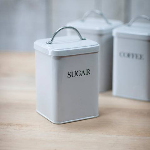 Sugar Canister in Chalk - Steel