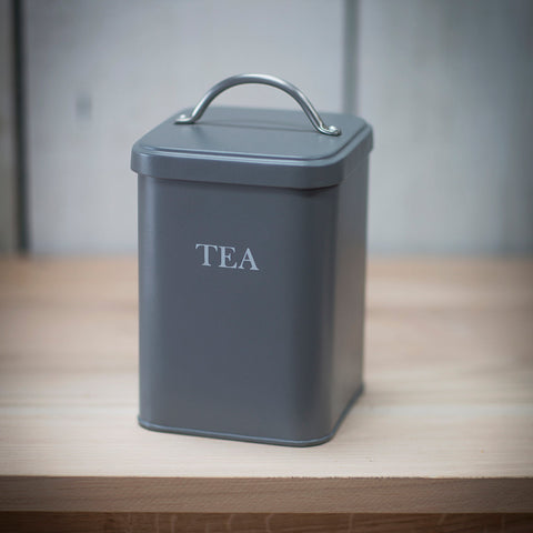 Tea Canister in Charcoal