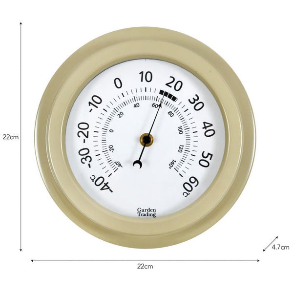Tenby Thermometer, 8 Inch in Clay