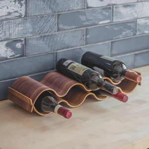 Brook Wine Rack Walnut