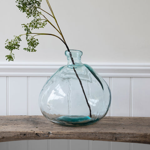 Wells Bubble Vase, Wide - Recycled Glass