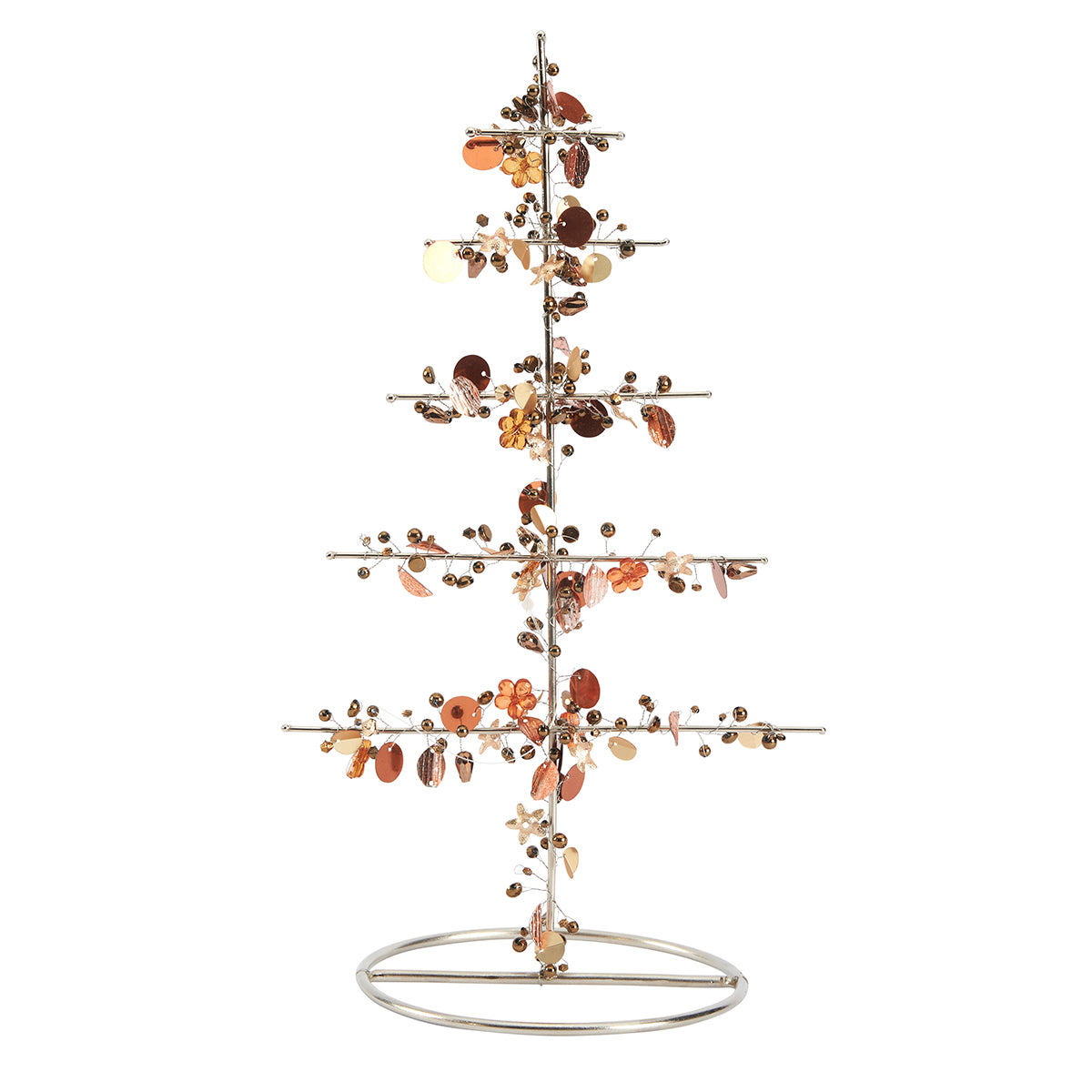 Beaded Wire Tree - Copper Gold