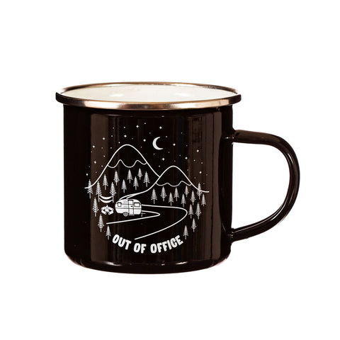 Out of the Office Enamel Mug