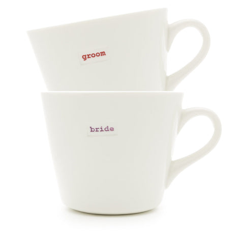 Keith Brymer Jones Bucket Mug Pair 350ml- Bride And Groom