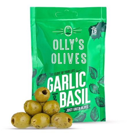 Ollys Olives Garlic & Basil 50g