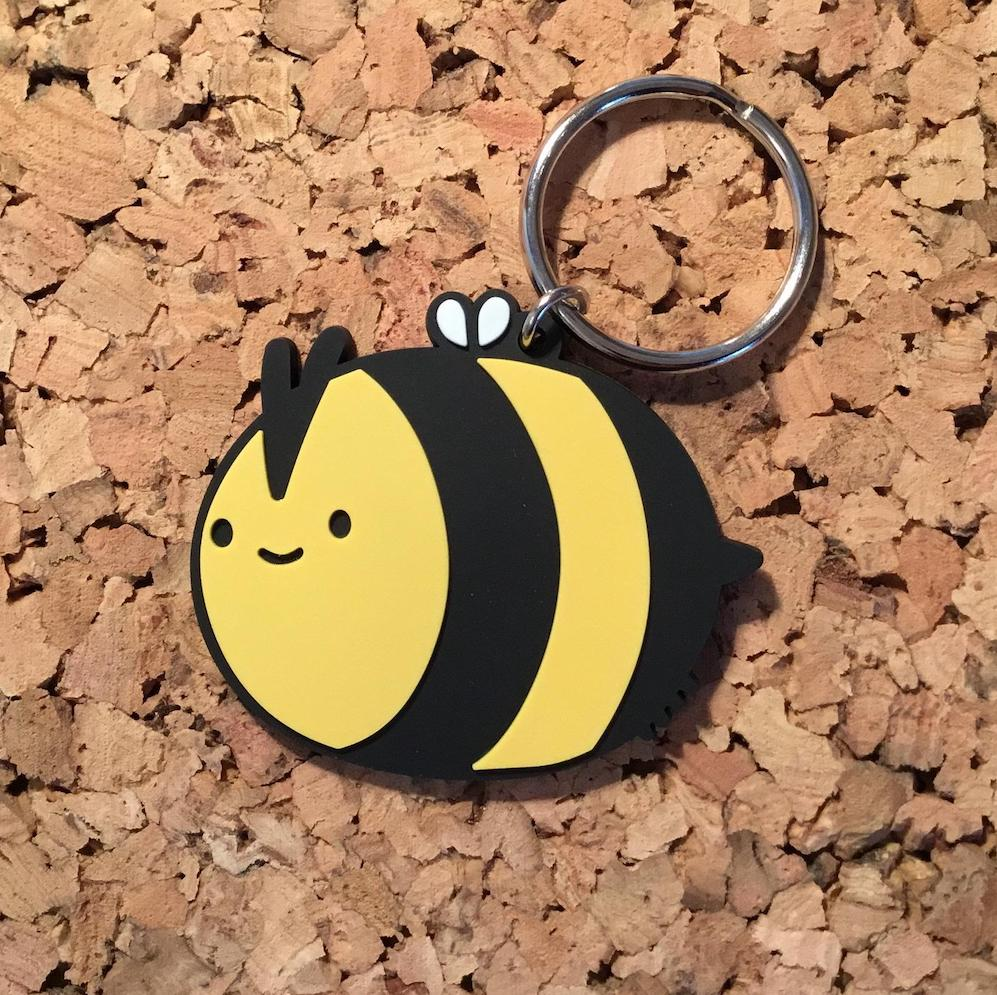 Doodles By Ben - Happy Bee Keyring