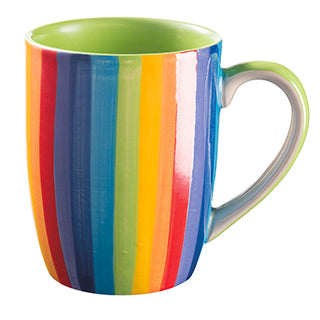 Rainbow Vertical Stripe Ceramic Mug