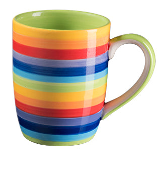 Rainbow Stripe Tapered Mug