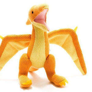 Yellow Pterodactyl Dinosaur Rattle