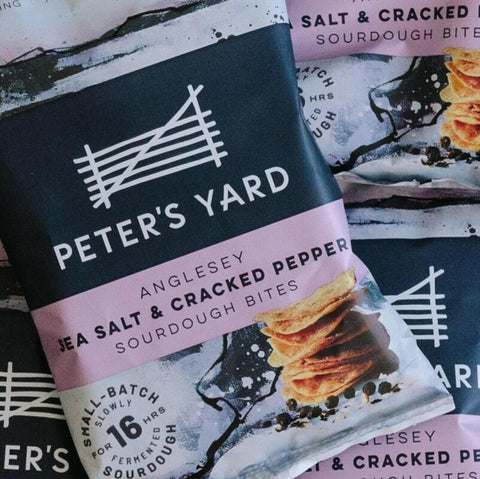 Peters Yard Sourdough Bites -Sea Salt& Pepper 90g