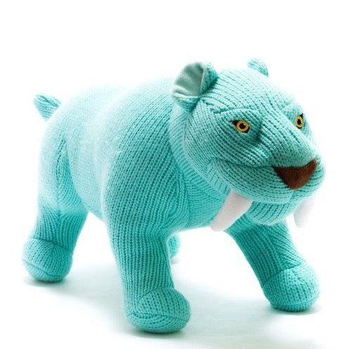 Sabre Tooth Tiger Knitted Dinosaur