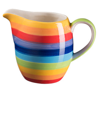 Rainbow Stripe Ceramic Milk Jug