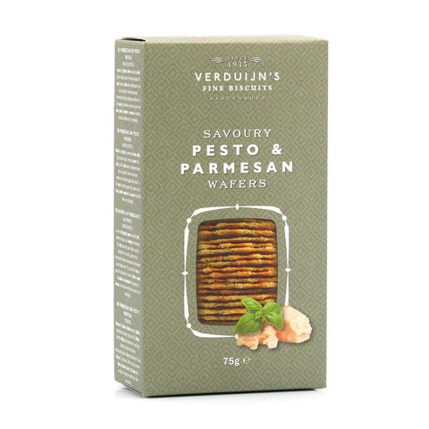 Verduijn's Fine Biscuits - Pesto & Parmesan Wafers