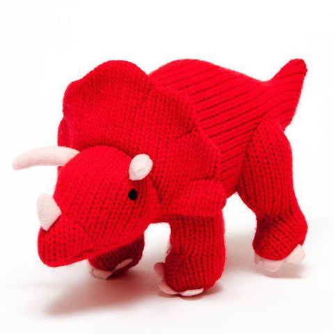 Red Triceratops Dinosaur Rattle