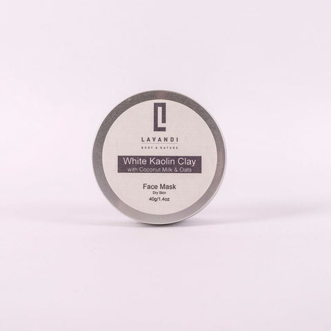 Lavandi Natural Clay Face Mask with White Kaolin Clay & Coconut