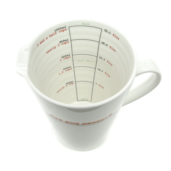 Keith Brymer Jones X-Large Jug 1000ml - Mix And Measure