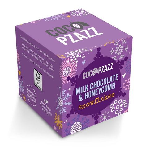 Coco Pzazz Milk Chocolate & Honeycomb Snowflakes 96g