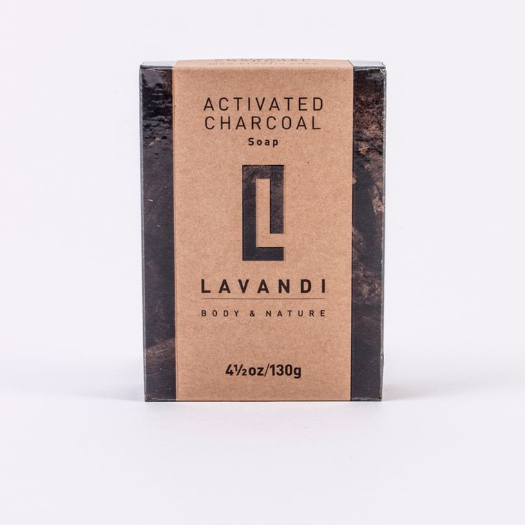 Lavandi Organic Soap Activated Charcoal