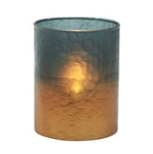 Copper Glow Tall Tea Light Holder