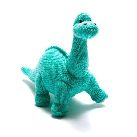 Ice Blue Diplodocus Dinosaur Rattle