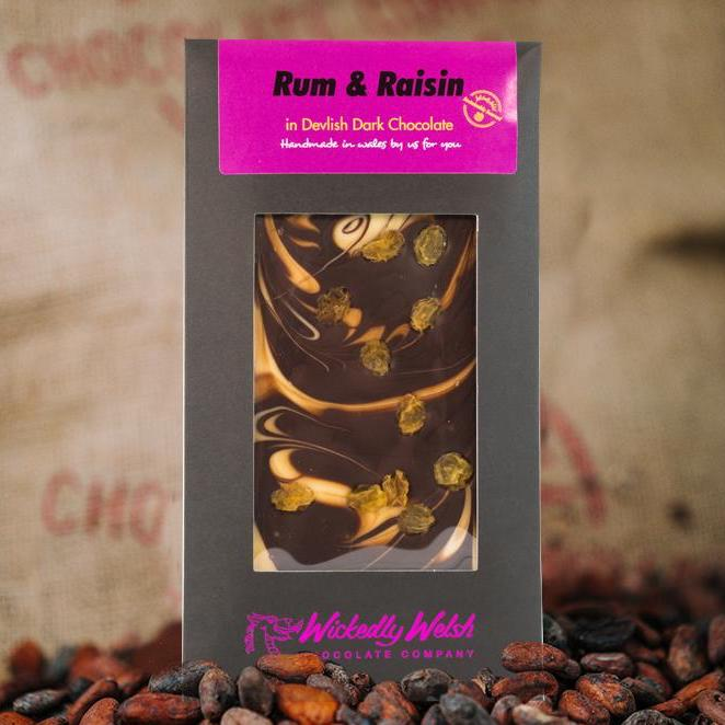 Wickedly Welsh Rum & Raisin Bar