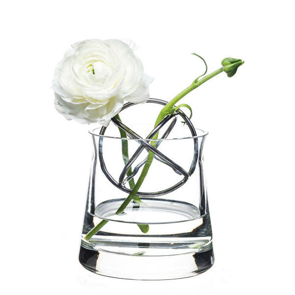 Sphere Vase with Stainless Steel Ball