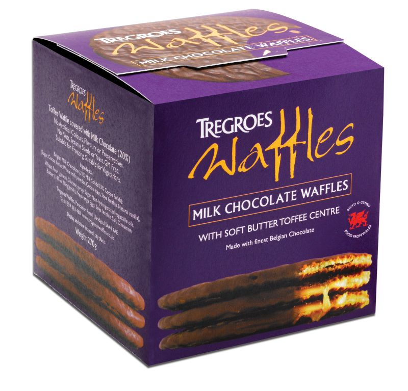 Tregroes Milk Chocolate Waffles