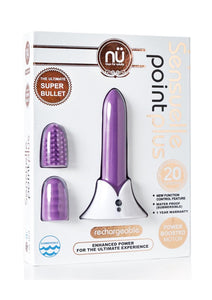 Nu Sensuelle Point Plus Rechargeable Silicone Bullet - Purple