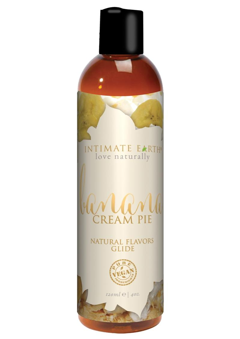 Intimate Earth Natural Flavors Glide Lubricant Banana Creampie 4oz
