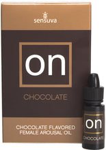 Load image into Gallery viewer, Sensuva On Chocolate Flavored Female Arousal Oil 5ml