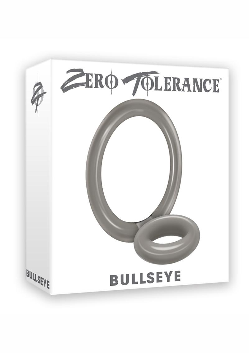 Zero Tolerance Bullseye Double Loop Cock Ring With Ball Strap - Smoke