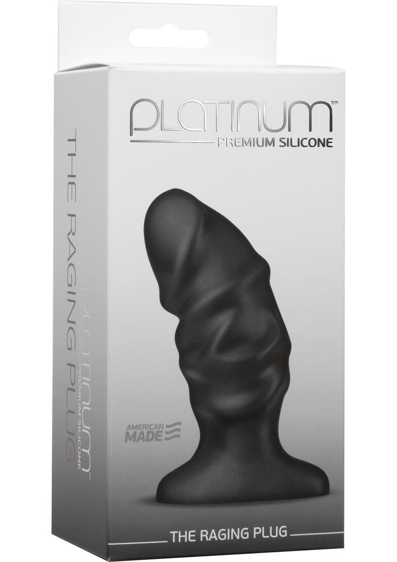 Platinum Premium Silicone - The Raging Anal Plug - Black