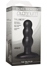 Load image into Gallery viewer, Platinum Premium Silicone - Dual Density TRUSKYN The Tru Anal Plug - Ripple - Black