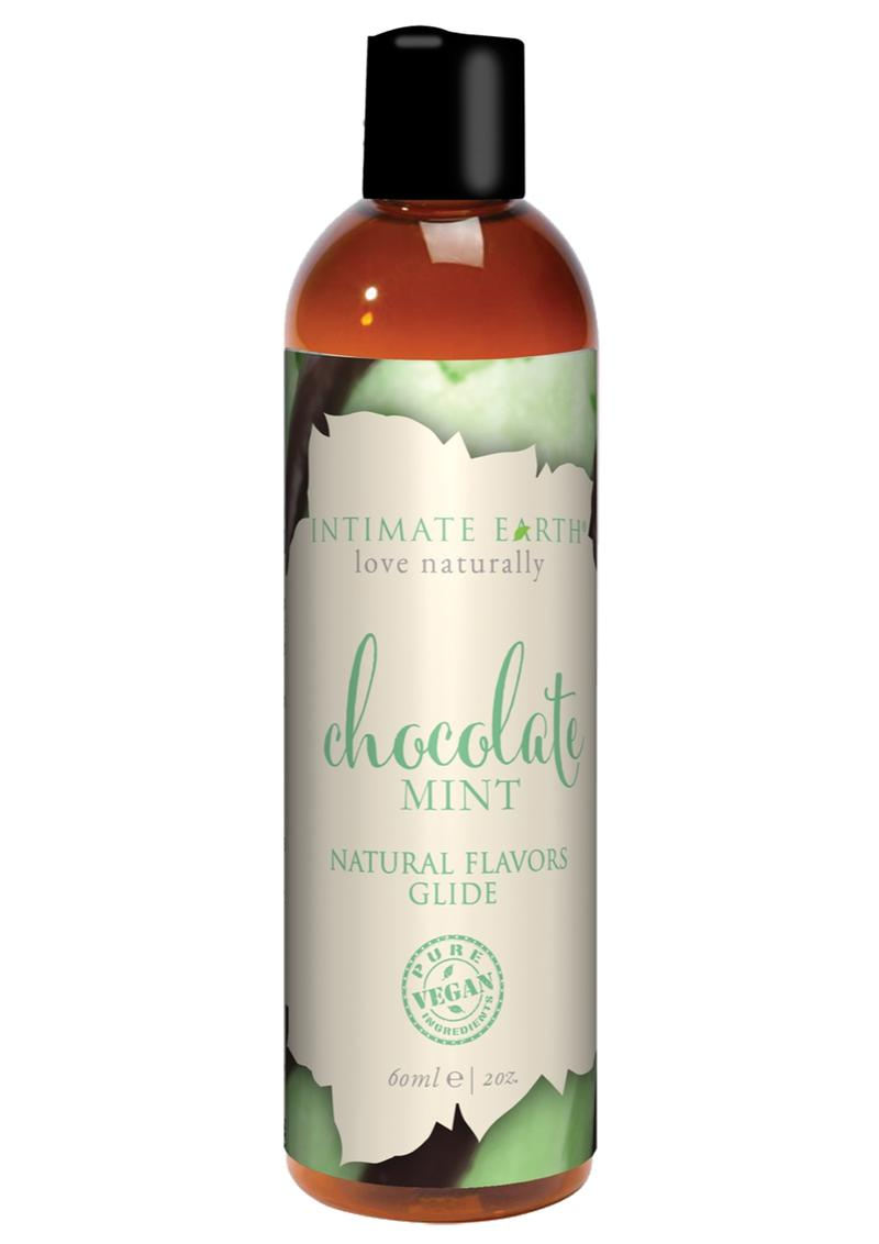 Intimate Earth Natural Flavors Glide Lubricant Chocolate Mint 2oz