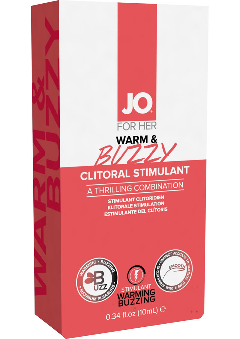 JO Warm and Buzzy Waterbased Warming Clitoral Stimulant Cream .34oz