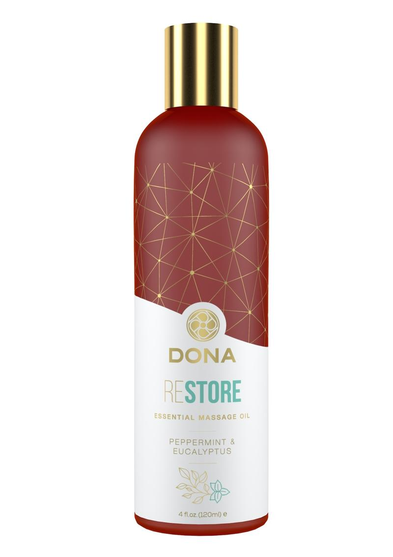 Dona Restore Vegan Massage Oil Peppermint and Eucalyptus 4oz
